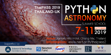 Thailand-UK Python+Astronomy Summer School 2019 (ThaiPASS'19)