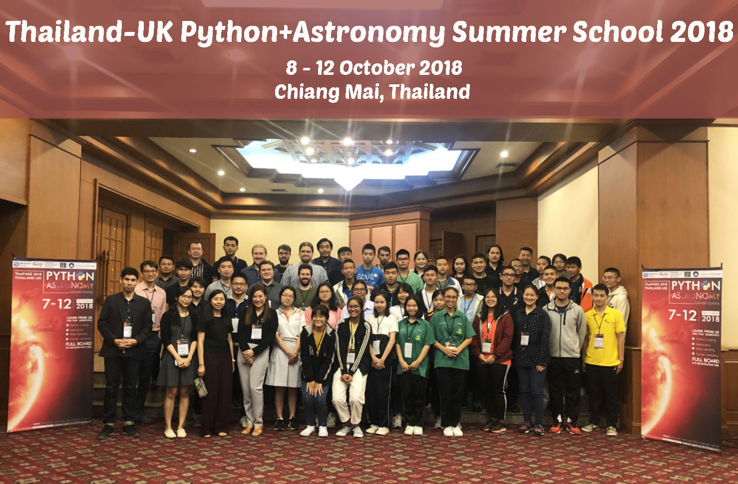 Group photo of ThaiPASS'18 participants